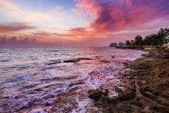 Pink sunrise Puerto Rico Stock Photos