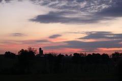 Pink sunrise Stock Images