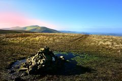 Cairn on Grea Sca Fell Royalty Free Stock Images