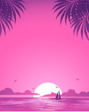 Pink sunset Royalty Free Stock Photography