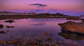 Pink sunset at Agulhas Stock Photography