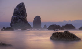 Pink Sunset on Cannon Beach Royalty Free Stock Image