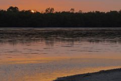 Pink Sunset at Ding Darling Wildlife Refuge royalty free stock image