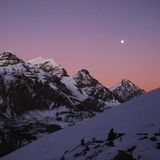 Pink sunset in the Himalayas Royalty Free Stock Photography