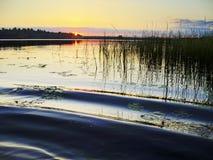 Pink sunset lake Royalty Free Stock Image
