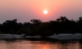 Pink sunset in the Makgadikgadi pans. Wana royalty free stock photos