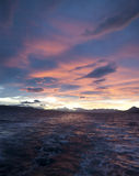 Pink sunset over the Beagle Channel. Stock Photography
