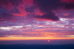 Pink sunset or sunrise with beautiful clouds Royalty Free Stock Images