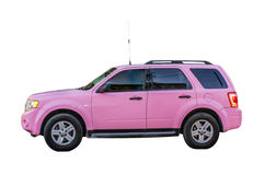 Pink SUV Royalty Free Stock Photo