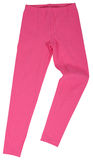 Pink sweatpants isolated on white background Stock Photos