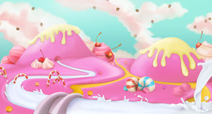 Pink sweet landscape background Stock Image