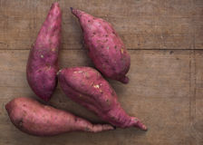 Pink sweet potatoes Stock Photography