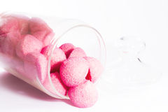 Pink sweets in a jar Royalty Free Stock Images