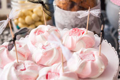 Pink sweets for a party Royalty Free Stock Images