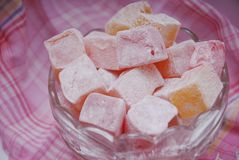 Pink sweets Stock Images