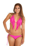 Pink swim suit fringe Royalty Free Stock Photos