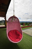 The pink swing Stock Photo