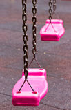 Pink Swing In Playground. Stock Images