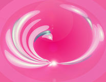Pink Swirl. Pink abstract swirl with light effects Royalty Free Stock Photography
