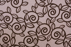 Pink swirl leaf fabric pattern Royalty Free Stock Images