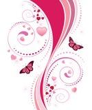 Pink Swirl Ornament Stock Photography