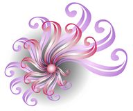 Pink Swirling Ribbon Design Royalty Free Stock Photography