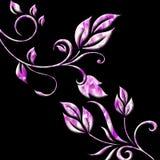 Pink swirls Stock Image