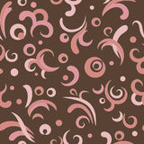Pink swirls. Bright pink and brown swirls seamless pattern Stock Photography