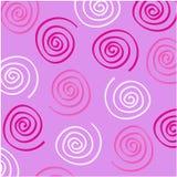 Pink Swirls. On light purple background Royalty Free Stock Photography