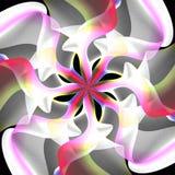 Pink Swirls Floral Pattern Stock Image