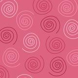Pink Swirls Pattern Stock Photography