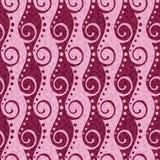 Pink swirls pattern Royalty Free Stock Image