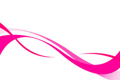 Pink Swooshes. Colorful three dimensional flowing curves layout with plenty of copy space Royalty Free Stock Photos