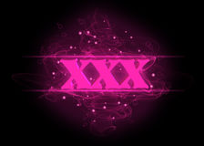 Pink symbol xxx Royalty Free Stock Images