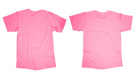 Pink T-Shirt Template Royalty Free Stock Images