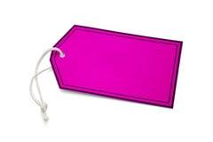 Pink tab hanger Stock Image