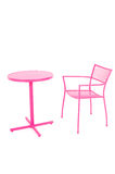 Pink table and Chair Royalty Free Stock Image