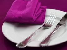Pink Table Setting Stock Photos
