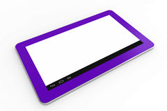 Pink tablet computer Stock Image