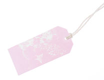 Pink tag Royalty Free Stock Photography