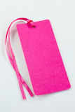Pink tag Royalty Free Stock Image