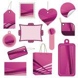 Pink tag set Royalty Free Stock Images