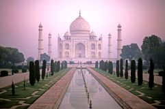 Pink Taj Mahal. This image was shot in Agra, India and shows the Taj Mahal Stock Photos