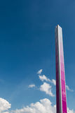 Pink Tall Metallic Column: Architectural Design Structure Stock Image