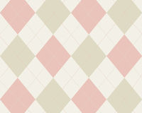 Pink and tan argyle. Cream, pink and tan argyle background Royalty Free Stock Image