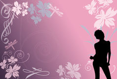 Pink Tangier. Pink pretty background with girl Stock Photos