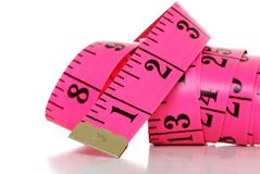 Pink Tape measure Royalty Free Stock Photos