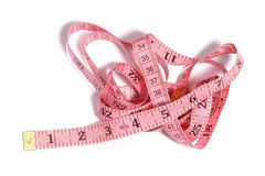 Pink tape measure Royalty Free Stock Photo