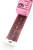 Pink tape measure Stock Photography