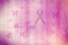 Pink tape - a symbol of breast cancer Royalty Free Stock Photography